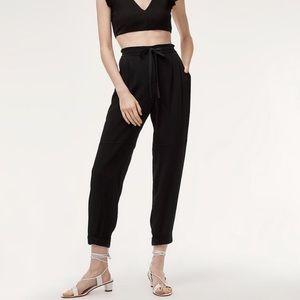 Aritzia Wilfred Black Marais Pants size 8